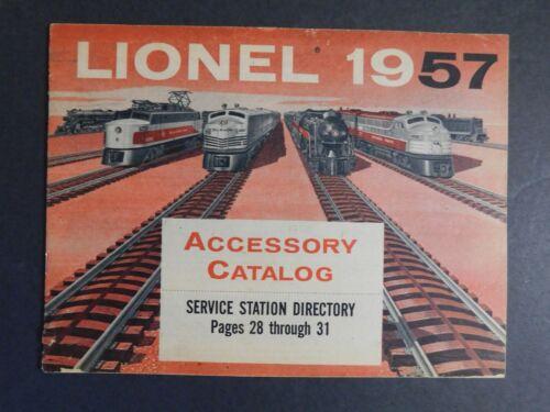 Original 1957 Lionel Trains Accessory Catalog 31pgs. EXC Gary Nelson Coll.