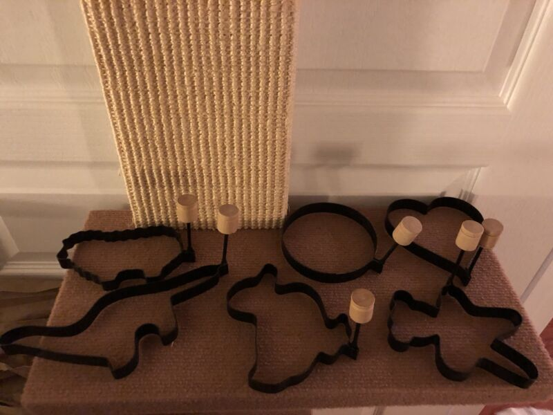 Folding Black Cookie Cutters Lot of 6