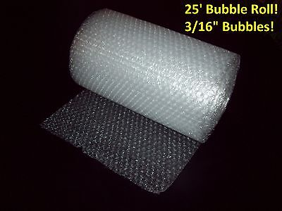 25 Foot Bubble Wrap Roll 316 Small Bubbles 12 Wide Perforated Every 12