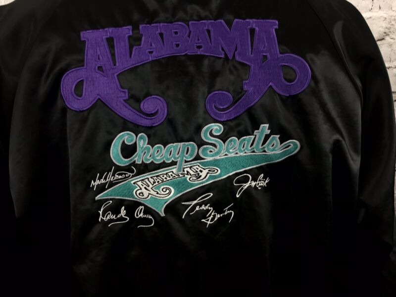 Alabama Cheap Seats Tour Satin Jacket Country Southern Rock Band Mens XL Vintage