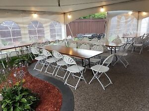 Tables, tents, chairs and more for rent!