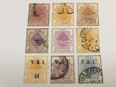 old stamps  ORANGE RIVER COLONY    x  9 mix