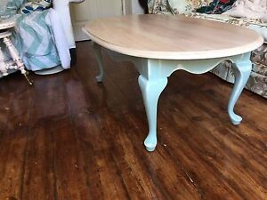 Refinished oval coffee table