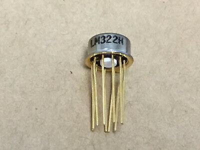1 Pc National Lm322h Low Power Precision Single Op Amp  Old Gold