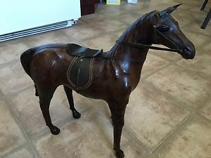 Leather horse toy sculpture