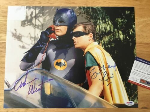 (SSG) BATMAN - Adam West & Burt Ward Signed Large 14X11 Photo with a PSA/DNA COA
