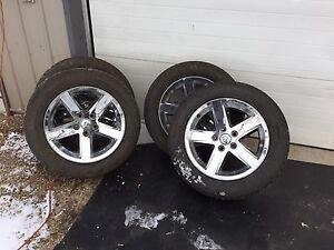 """20"""" dodge ram rims + tires"""