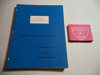 Hp Model 740b Dc Standarddifferential Voltmeter Operating Service Manual