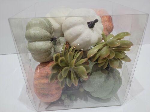 12pc Thanksgiving Fall Pumpkin Gourds Bowl Fillers Wreaths Tabletop Decor