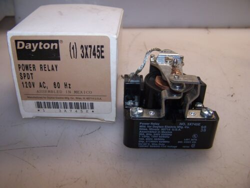 NEW DAYTON 30 AMP POWER RELAY SPDT 120 VAC 3X745E