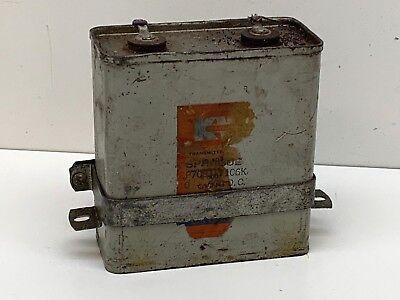 Vintage Sprague Cr-106 Kilo-volt-oil Paper Capacitor 10mfd 600vdc Cp70b1ef106k