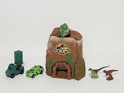 1997 Jurassic Park Lost World Microverse T-Rex Trap Mini Playset, Extras