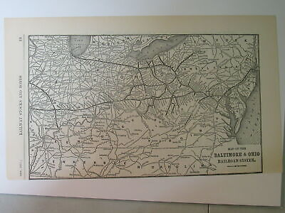 Original map of the Baltimore and Ohio Railroad System ~ 1911