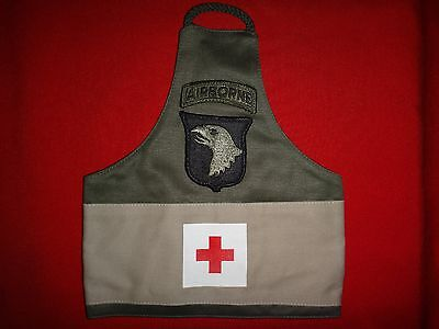 US 101st AIRBORNE DIVISION Medical First-Aid Green & Tan Cotton Armband