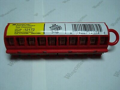 3m Scotchcode 12172 Std-30-39 Wire Marker Tape Dispenser With Sdr Tape