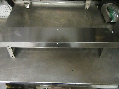 A36 Stainless Steel Wall Mount Shelf 36x9 Utility Hangers Heavy Commercial
