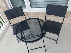 Patio wicker conversation set