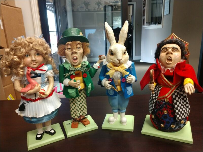 Alice in Wonderland Nutcracker Set of 4
