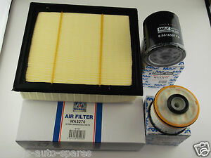 ISUZU D-MAX FILTER KIT,OIL,AIR,FUEL SUITS 3.0L T'DIESEL WITH 4JJ1 ENG 7/2012 ON