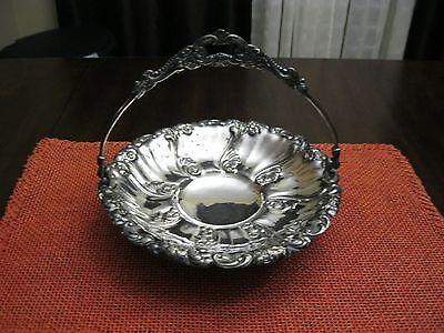 Vintage 1893 Victorian Homan Quad Silver Plated Bride Basket  Style #833