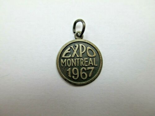 Vintage 1967 EXPO MONTREAL Sterling Silver Charm Pendant 925 CANADA 371D