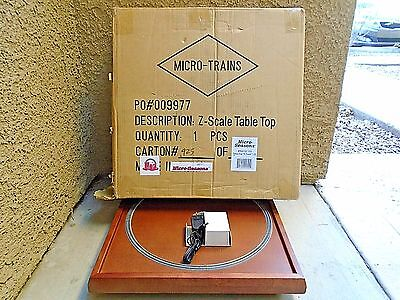 Micro Trains MTL Z Scale Wood Table & Track Powered Loop NEW in Open Box