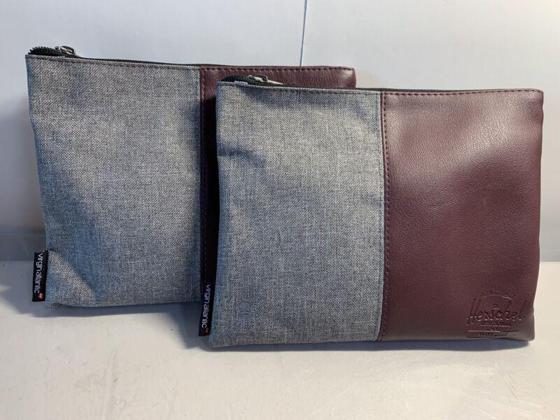 2 NEW VIRGIN ATLANTIC Upper Class Business First Amenity Kit Travel Bag HERSCHEL