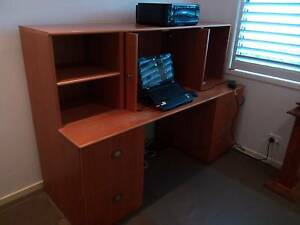 Home Office Timber Veneer Unit with filing Draws Point Clare Gosford Area Preview
