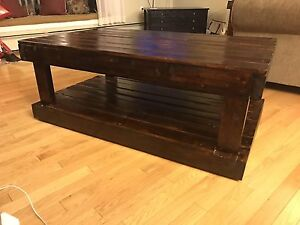 Repurposed wooden coffee table and end tables