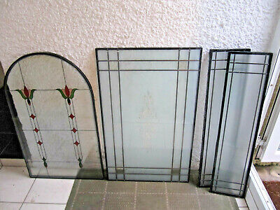 Stained Glass Windows 1 arch 2 small rectangle 1 large rectangle