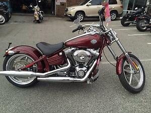 2008 HARLEY DAVIDSON ROCKER C MAROON WITH FLAMES Osborne Park Stirling Area Preview