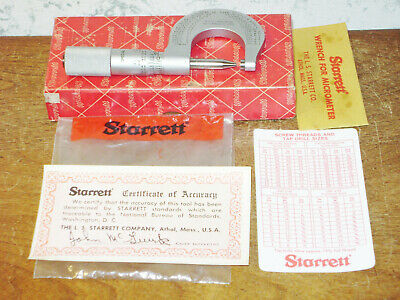 Starrett 0-1 Inch Micrometer No T230p Special - .0001 Inch Graduations