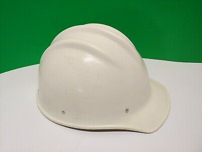 Vintage White Bullard 502 Fiberglass Hard Boiled Hard Hat Construction See Add