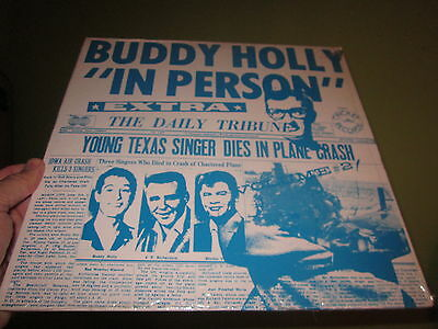 Buddy Holly In Person Mint Sealed Lp Record Cricket Records Sealed