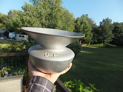 """Antique Southern Pacific S-P Railroad Cast Iron Spittoon  6"""" high, 9.5"""" mouth"""