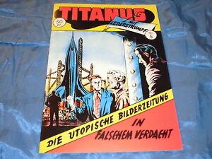 TITANUS  Nr. 5 , Hethke Sammlerausgabe 1994 ,Utopia / Science Fiction COMIC 1954