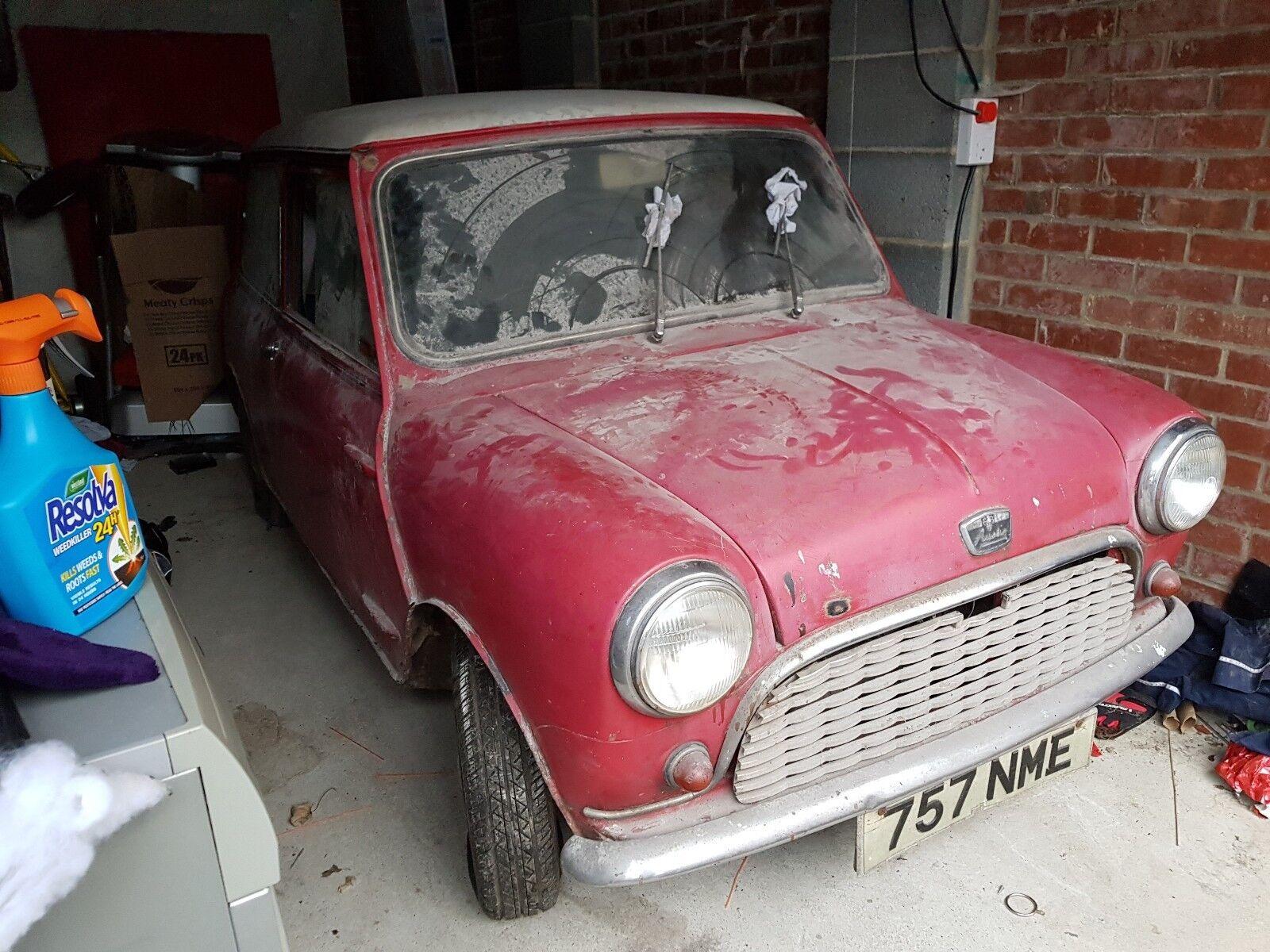 Cheap Classic Cars For Sale - 1961 AUSTIN 7 MINI, BARN FIND ...