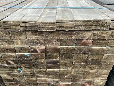 Feather Edge Fence Boards Treated Close Board Fencing Premium Quality Rails