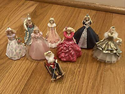Vintage Barbie Hallmark Christmas Ornament lot of 8 1995-2000!