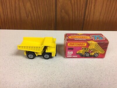 Vntage Matchbox Dump Truck With Original Box