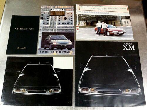 Vintage 1989 Citroen XM Brochure Catalog News Magazine Lot, German & French
