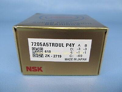 Nsk 7205a5trdulp4y Abec-7 Super Precision Spindle Bearings. Matched Set Of 2