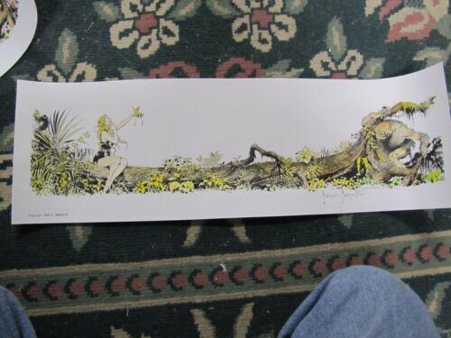 Frank Frazetta--Beauty & The Beast- hand painted & signed art print  ( blonde )