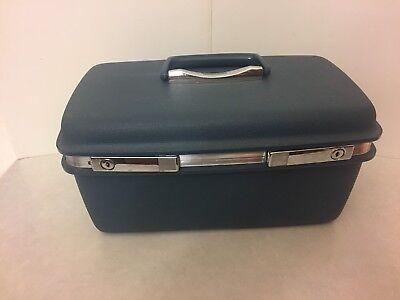 Samsonite Saturn - Train Case - Blue Hard Case Luggage - with Keys