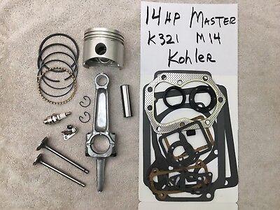 Master Engine Rebuild Kit For K321 14Hp Kohler W Valves