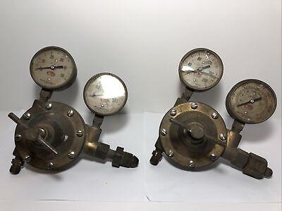 Meco Welding Regulator Set Oxygen Acetylene Vintage Steampunk Nice Patina
