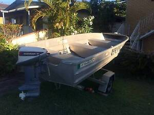 12 Foot  Brooker 9.9 Evinrude and Trailer (Registered) Scarborough Redcliffe Area Preview