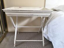 2 white tray butler side tables Darling Point Eastern Suburbs Preview