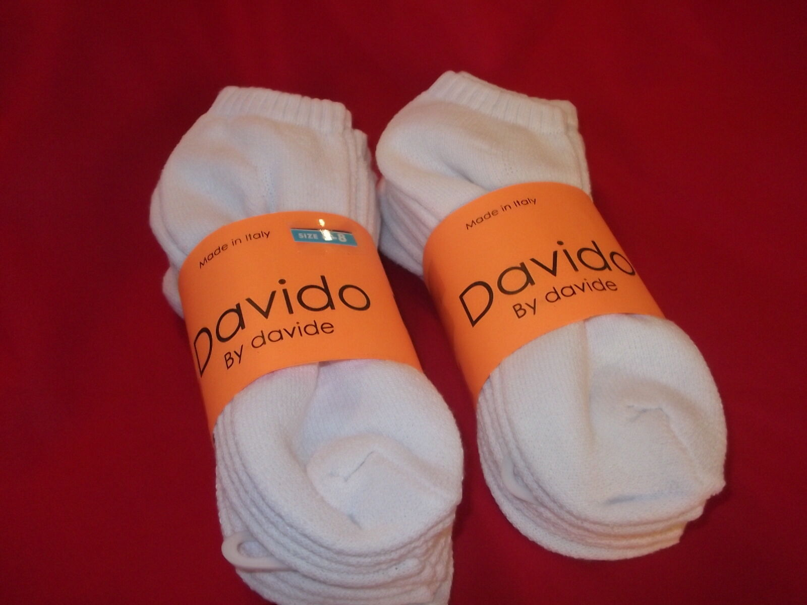 Davido women socks ankle low cut made in Italy 100%cotton 8