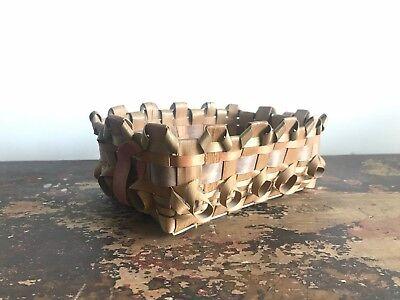 Vintage 1950's Iroquois Split Ash Woven Basket / Tray